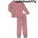 Maxomorra - Bio Kinder Schlafanzug mit Hasen-Motiv