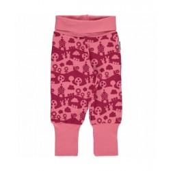 Maxomorra - Bio Baby Sweathose mit Landschafts-Motiv, pink