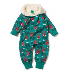 Little Green Radicals - Bio Baby Schneeanzug mit Fuchs-Motiv