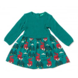 Little Green Radicals - Bio Kinder Kleid mit Fuchs-Motiv