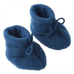 ENGEL - Bio Baby Fleece Schuhe, Wolle, blau
