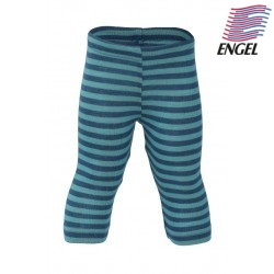 ENGEL - Bio Kinder Leggings gestreift, Wolle/Seide, ocean