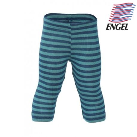 219ec7f4fad01 ENGEL - Bio Kinder Leggings gestreift, Wolle/Seide, ocean