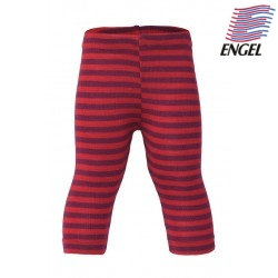ENGEL - Bio Kinder Leggings gestreift, Wolle/Seide, rot