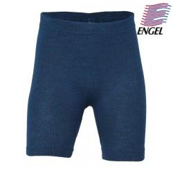 ENGEL - Bio Kinder Unterhose kurz, Wolle/Seide, ocean