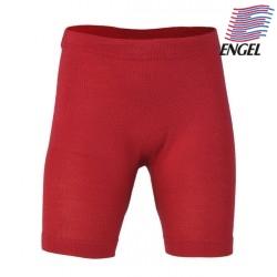 ENGEL - Bio Kinder Unterhose kurz, Wolle/Seide, rot