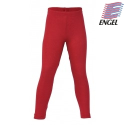 ENGEL - Bio Kinder Leggings, Wolle/Seide, rot