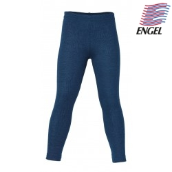 ENGEL - Bio Kinder Leggings, Wolle/Seide, ocean