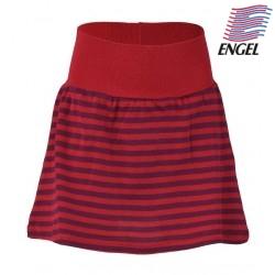 ENGEL - Bio Kinder Jerseyrock gestreift, Wolle/Seide, rot