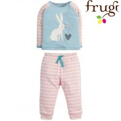 """frugi - Bio Baby Schlafanzug """"Stargaze"""" mit Hasen-Motiv"""