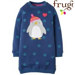 """frugi - Bio Kinder Sweat Kleid """"Eloise"""" mit Pinguin-Motiv"""