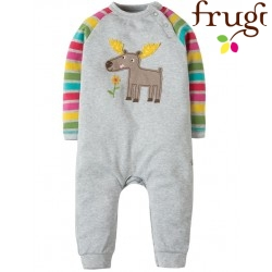 frugi - Bio Baby Strampler mit Elch-Motiv