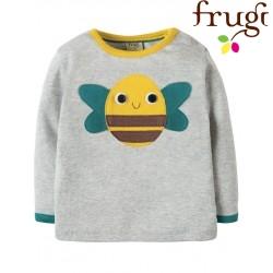 """frugi - Bio Baby Langarmshirt """"Button Off"""" mit austauschbaren Motiven"""