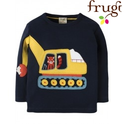"""frugi - Bio Baby Langarmshirt """"Doug"""" mit Bagger-Motiv"""