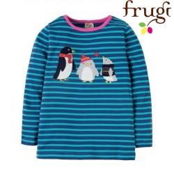 "frugi - Bio Kinder Langarmshirt ""Nyrah"" mit Pinguin-Motiv und Streifen"