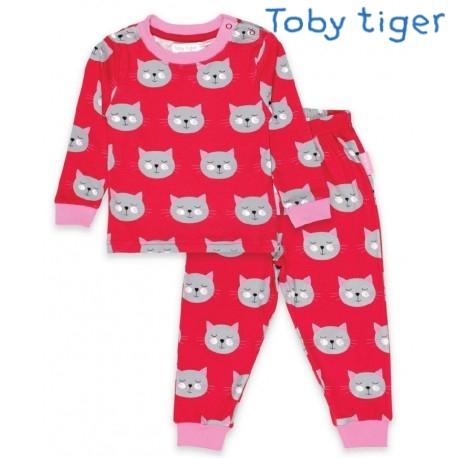 Toby tiger - Bio Kinder Schlafanzug mit Katzen-Motiv