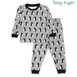 Toby tiger - Bio Kinder Schlafanzug mit Pinguin-Motiv