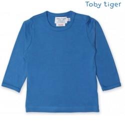 Toby tiger - Bio Baby Langarmshirt, blau