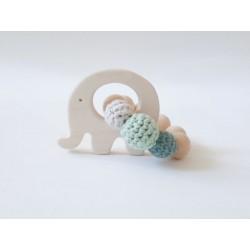 "NoniKids Berlin - Bio Baby Greifling ""Elefant"", blau"