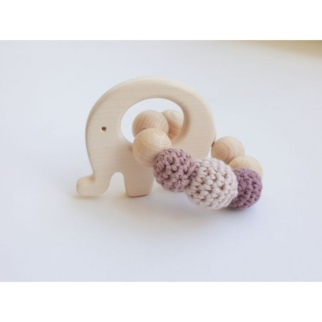 "NoniKids Berlin - Bio Baby Greifling ""Elefant"", rosa"