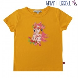 Enfant Terrible - Bio Kinder T-Shirt mit Pferde-Motiv, gelb