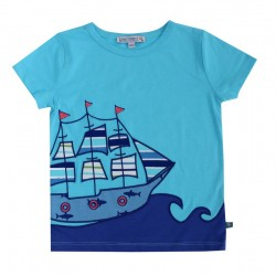 Enfant Terrible - Bio Kinder T-Shirt mit Segelschiff-Motiv