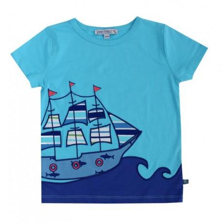 Enfant Terrible - Bio Kinder T-Shirt mit Segelschiff-Motiv