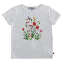 Enfant Terrible - Bio Kinder T-Shirt mit Blumen-Motiv