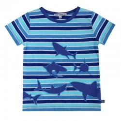 Enfant Terrible - Bio Kinder T-Shirt mit Hai-Motiv und Streifen