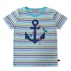 Enfant Terrible - Bio Kinder T-Shirt mit Anker-Motiv und Streifen