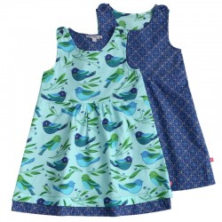Enfant Terrible - Bio Kinder Wende Kleid mit Vogel/Muster-Motiv