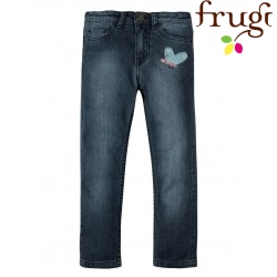 "frugi - Bio Kinder Jeans ""Jennie"" mit Schmetterlings-Applikation"