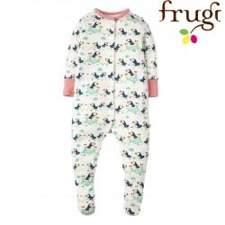 frugi - Bio Baby Strampler mit Papageientaucher-Motiv