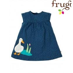 """frugi - Bio Baby Jersey Kleid """"Little Lola"""" mit Enten-Motiv und Punkten"""