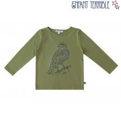 Enfant Terrible - Bio Kinder Langarmshirt mit Adler-Stickerei