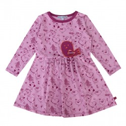 Enfant Terrible - Bio Kinder Shirtkleid mit Vogel-Motiv