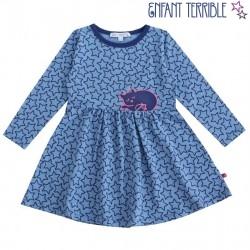 Enfant Terrible - Bio Kinder Shirtkleid mit Sternen und Katzen-Motiv