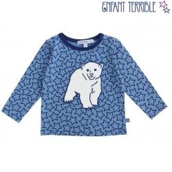Enfant Terrible - Bio Baby Langarmshirt mit Sternen und Eisbär-Motiv