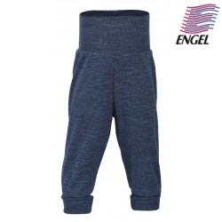 ENGEL - Bio Baby Hose mit Nabelbund, Wolle, blau