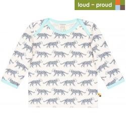 loud + proud - Bio Baby Langarmshirt mit Leoparden-Druck
