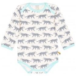 loud + proud - Bio Baby Body langarm mit Leoparden-Druck