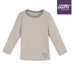 LIVING CRAFTS - Bio Baby Unterhemd langarm mit Streifen