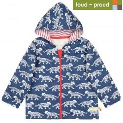 loud + proud - Bio Kinder Jacke mit Leoparden-Druck, wasserabweisend