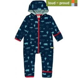 loud + proud - Bio Baby Sommer Sweatoverall mit Safari-Druck