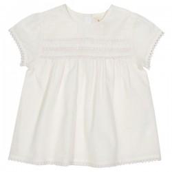 kite kids - Bio Kinder Bluse mit Rüschen