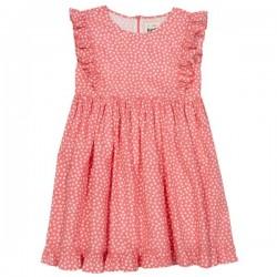kite kids - Bio Kinder Kleid mit Punkten und Rüsche