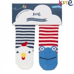 kite kids - Bio Baby Stopper Socken mit Tier-Motiven 2er Pack