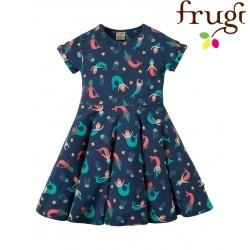 """frugi - Bio Kinder Jersey Kleid """"Spring"""" mit Meerjungfrauen-Motiv"""