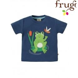 """frugi - Bio Baby T-Shirt """"Little Creature"""" mit Frosch-Motiv"""