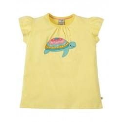"""frugi - Bio Kinder T-Shirt """"Ellie"""" mit Schildkröten-Motiv"""